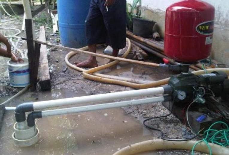 pemasangan mesin pompa